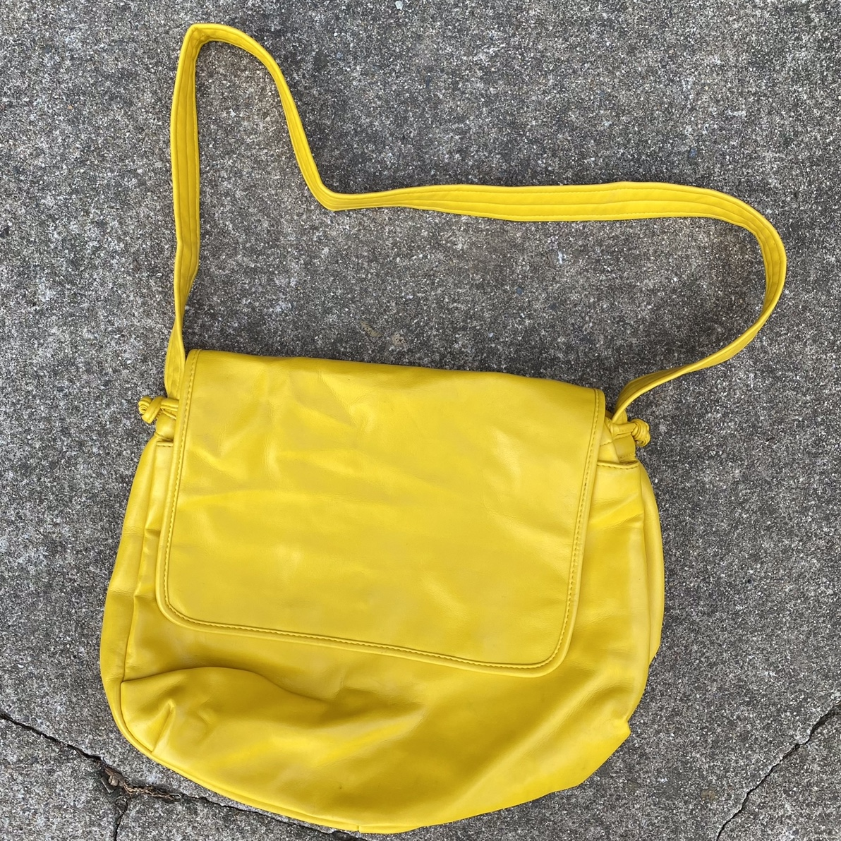 Product Image 1 - Vintage 80s yellow leather shoulder