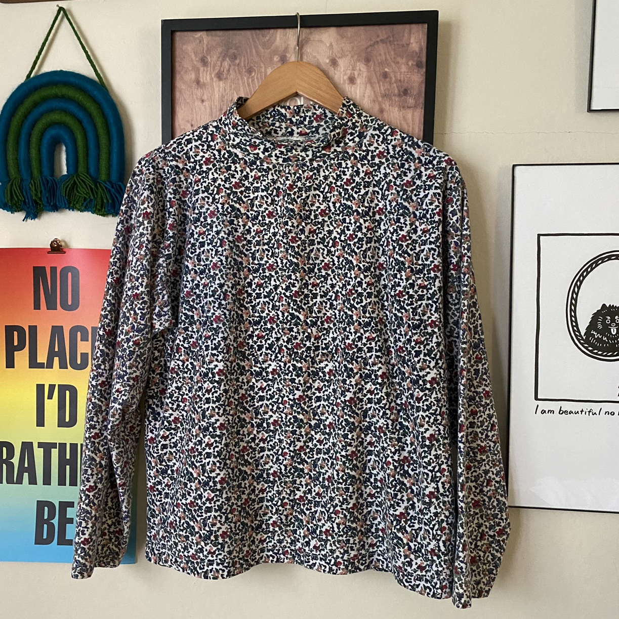 Product Image 1 - Vintage 90s abstract print turtleneck!  Size