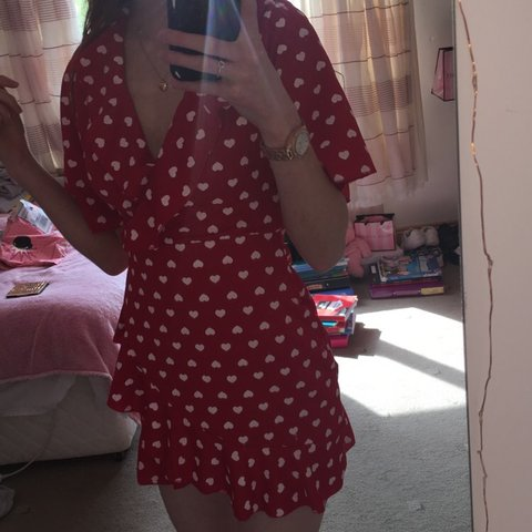 bc0dc9173f58 Selling this gorgeous red dress from vavavoom❤ . Worn once 6 - Depop