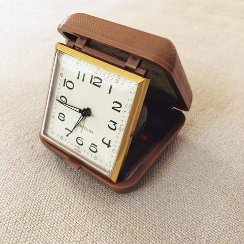 Vintage Wind Up Travel Alarm Clock I Dont Know What It Is Depop