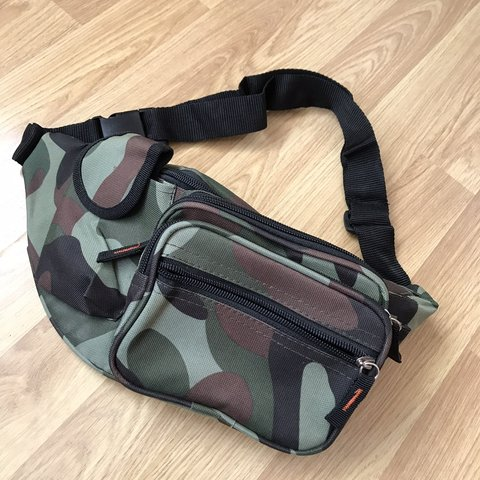 7b57f1791ad Army print bum bag -never been used -still in perfect - Depop