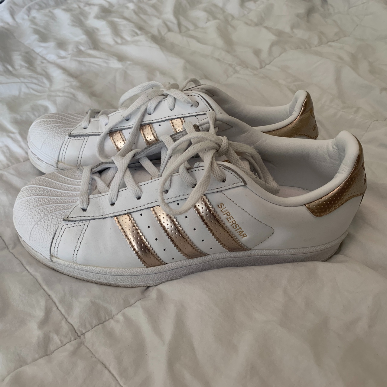 Product Image 1 - adidas superstar rose gold sneakers  •