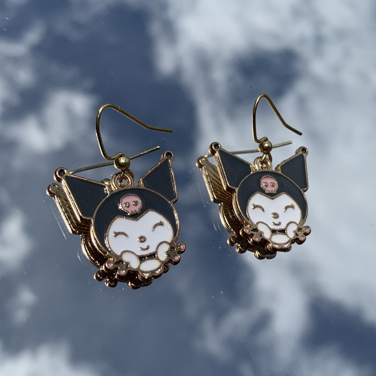 Product Image 1 - kuromi earrings  • clip on options