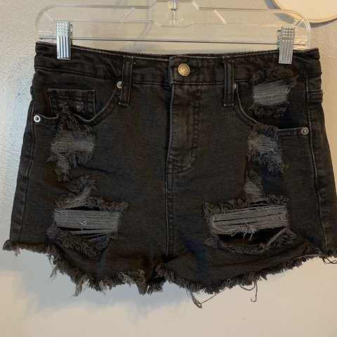 9532a0f35b Black, ripped, high waisted shorts from target. Wild fable - Depop